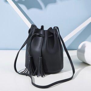 Handbags - Black Mini Bucket Bag